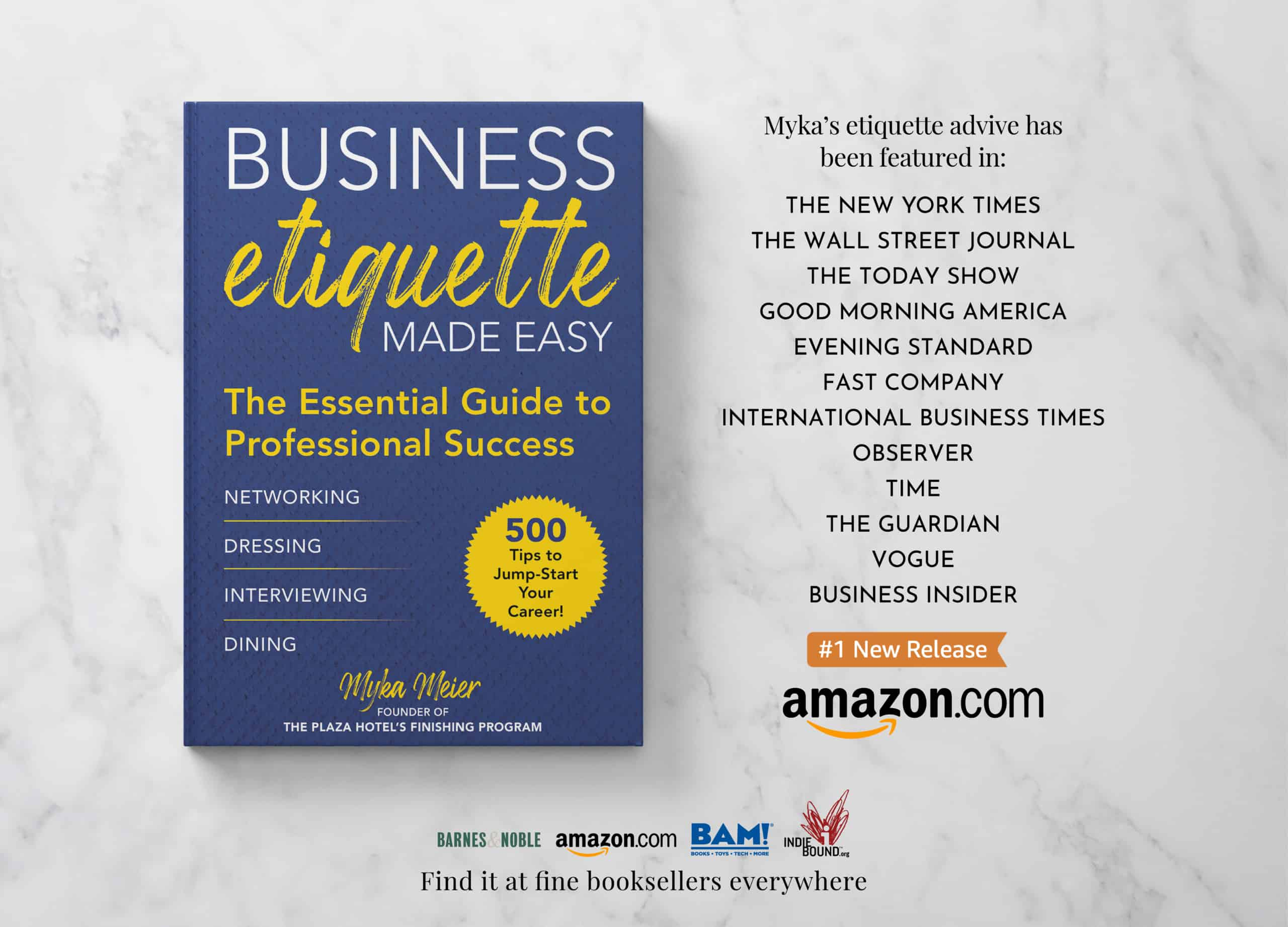 Business Etiquette Made Easy Book Tour